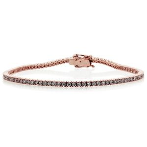 Jewelry - 1.5mm 14K Rose Gold Round tennis Bracelet 7 inches